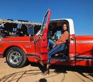 RNM s2 BTS Heather Hemmens truck