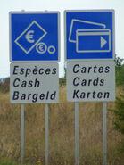 Panneaux péages non reglementaires