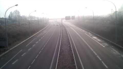 L'autoroute, un jour de janvier.