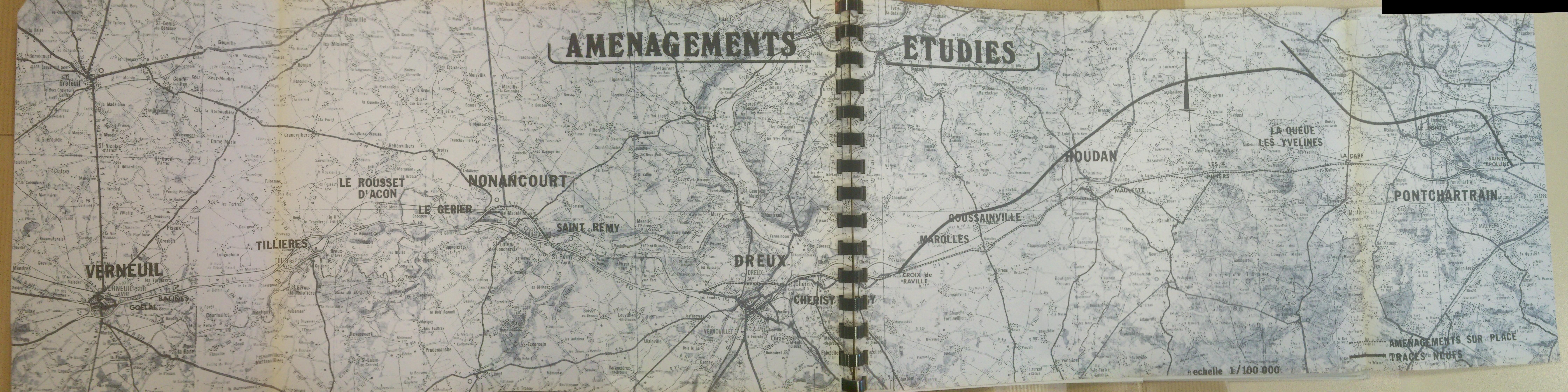 Route nationale française 12/Aménagements entre Paris et Dreux