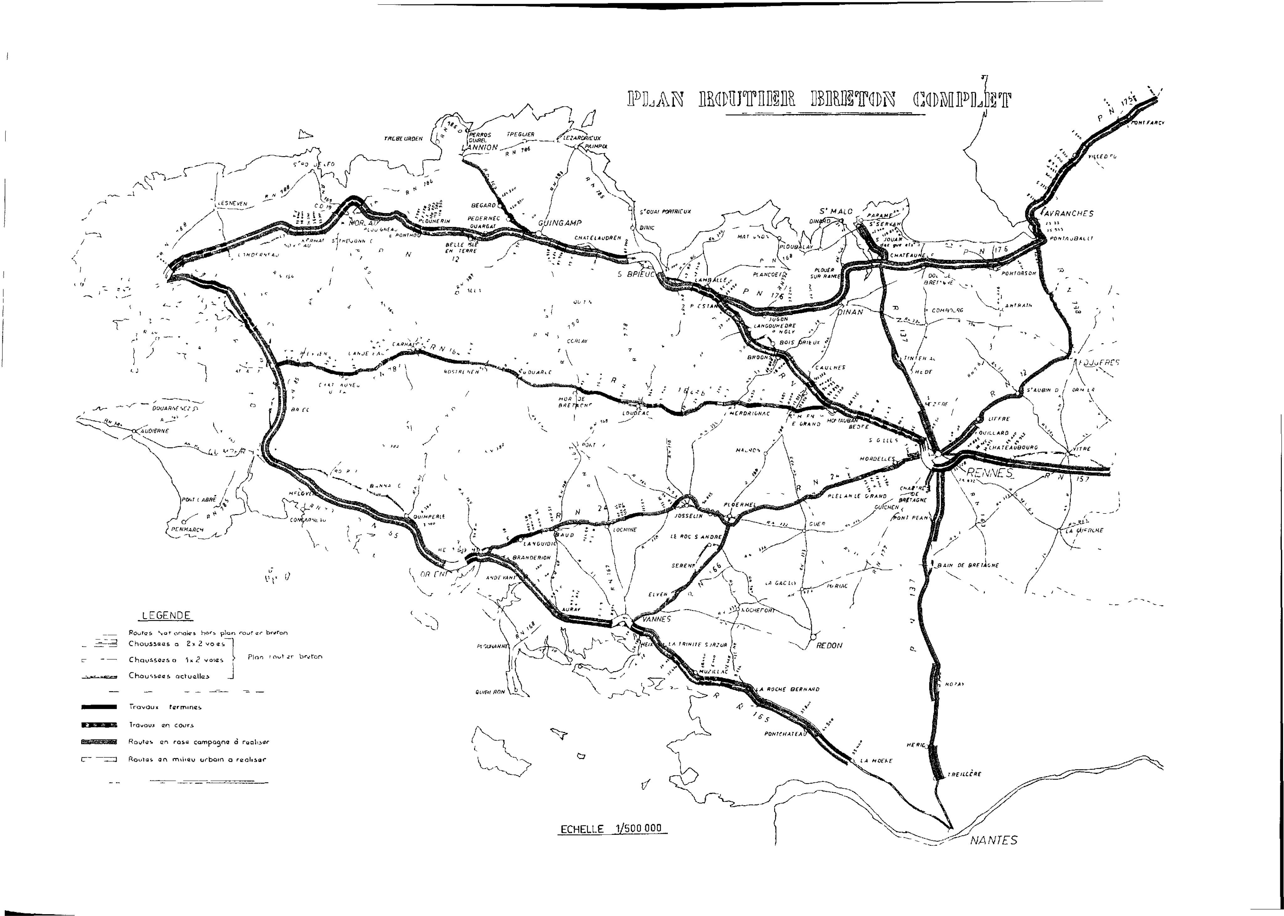 Plan routier breton
