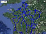 Cartes de mises en service des autoroutes françaises (2000-2010)