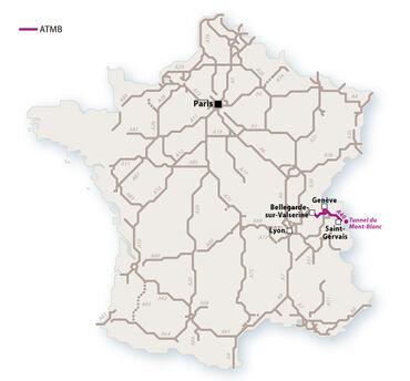 Le réseau ATMB en 2010. © Le Baron