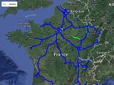Cartes de mises en service des autoroutes françaises (1990-2000)