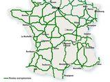 Liste actuelle des routes européennes en France