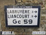 Plaque Michelin 60D059 - Sacy-le-Grand-A