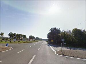 Croisement avec la D29 à côté de Saint-Secondin