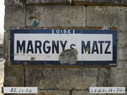 Plaque Michelin 60D015 - Entrée Margny-sur-Matz