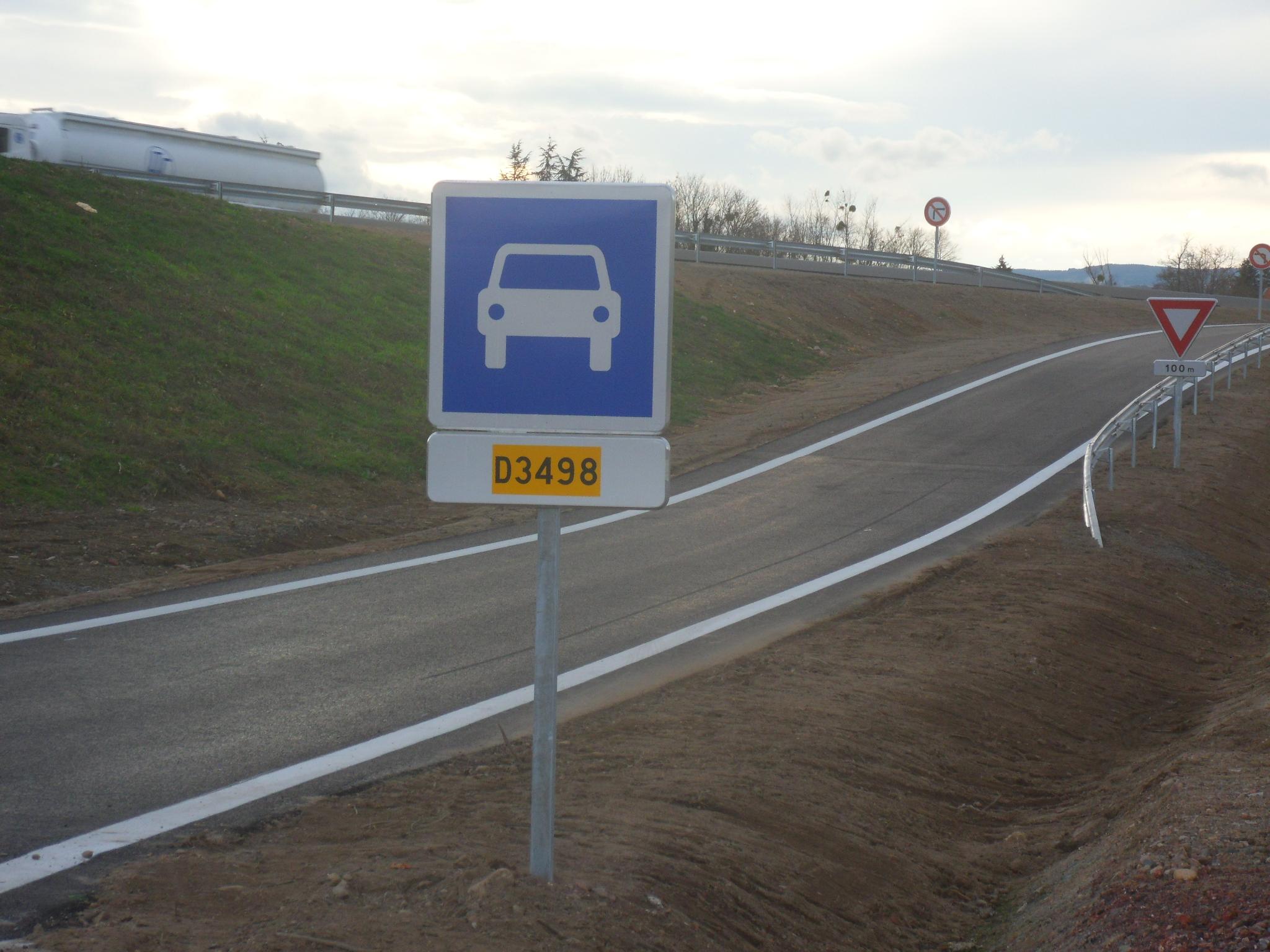 Route départementale française D3498 (42)