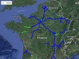 Cartes de mises en service des autoroutes françaises (1980-1990)