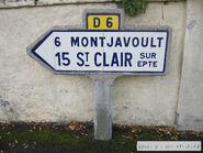 Poteau direction 60D006 - Délincourt-a