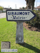 Poteau direction 60D073 - Giraumont