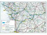 Description du tracé de la RCEA en France