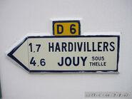 Plaque direction 60D006 - Enencourt-le-Sec-c