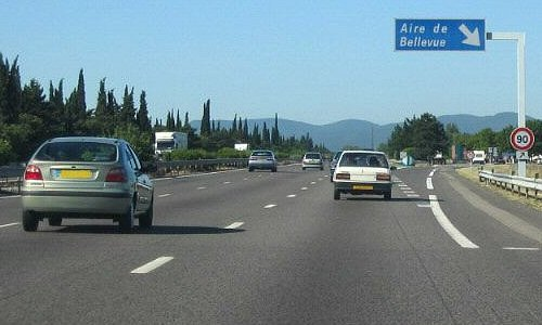 Autoroute française A7 (Aires)