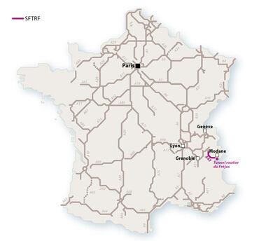 Le réseau SFTRF en 2010. © Le Baron