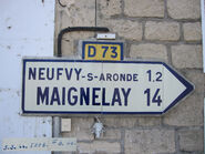 Plaque direction 60D073 - Gournay-sur-Aronde