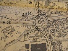 Echangeur de Florian – Plan issu de l'APS de la L2 en 1974
