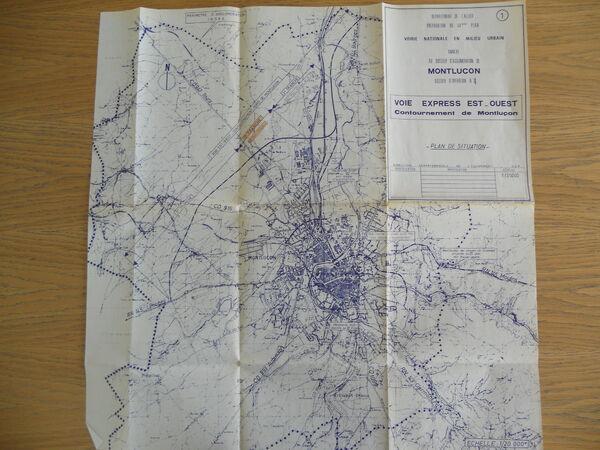 Plan du contournement Nord de Montluçon réalisé dans le cadre des études pour la réalisation de la RCEA. © G.E.
