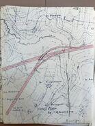 A11 1967 échangeur Nantes (4) Biffurcation voie interquartier Ouest