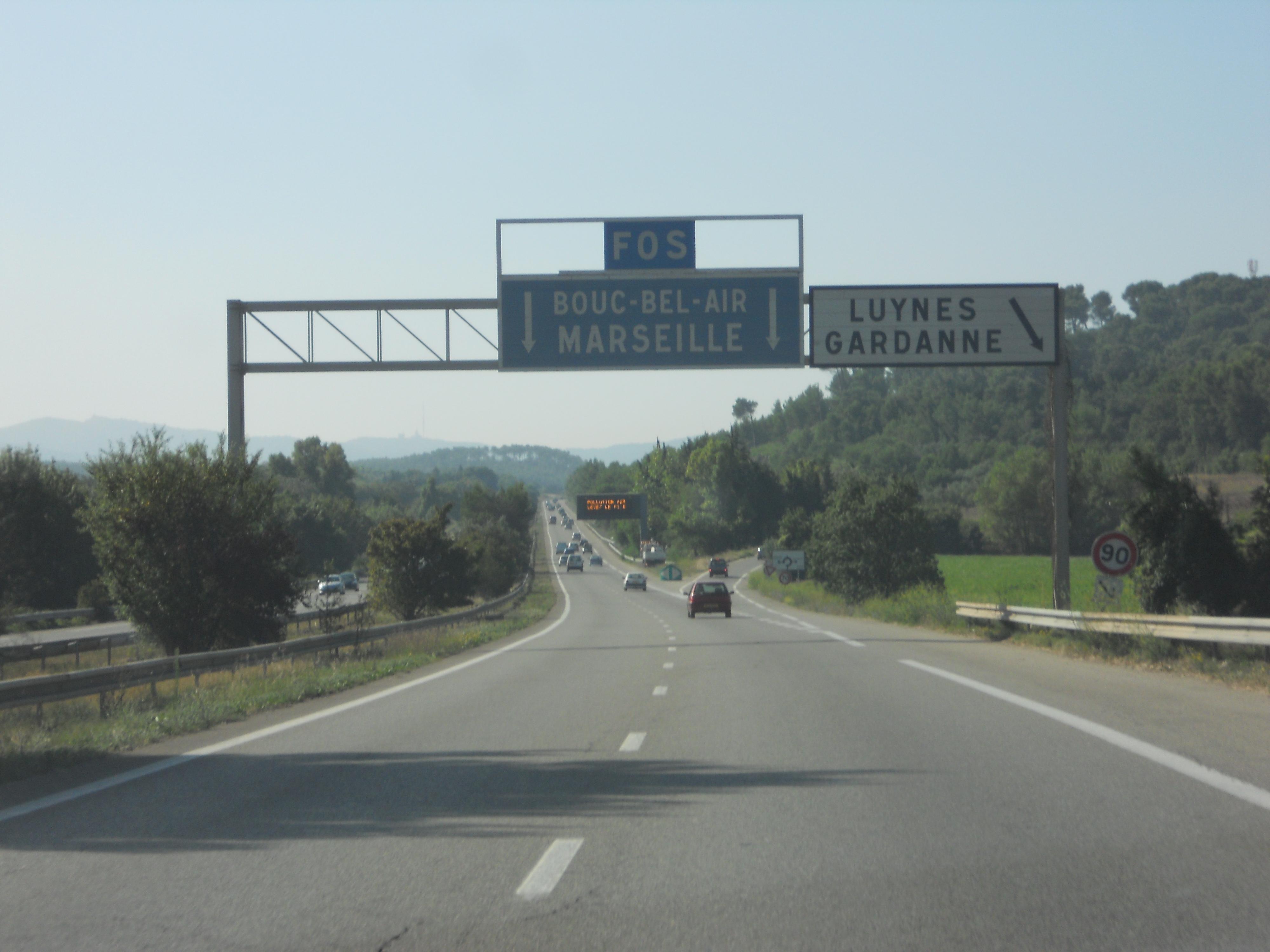 Autoroute française A51 (Itinéraire)