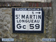 Plaque Michelin 60D059 - Sacy-le-Grand-C