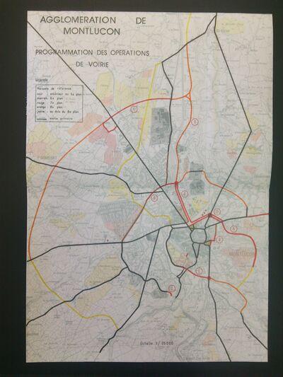 Plan du SDAU de Montluçon de 1975. © Frantz58