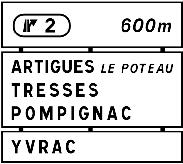 Autoroute française A89 (Panneaux)