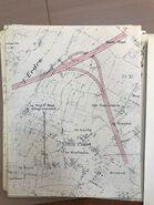 A11 1967 échangeur Nantes (7) Biffurcation voie interquartier Est
