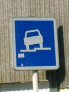 Panneau stationnement trottoir