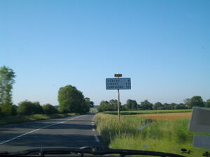 La D741 après la Villedieu-du-Clain