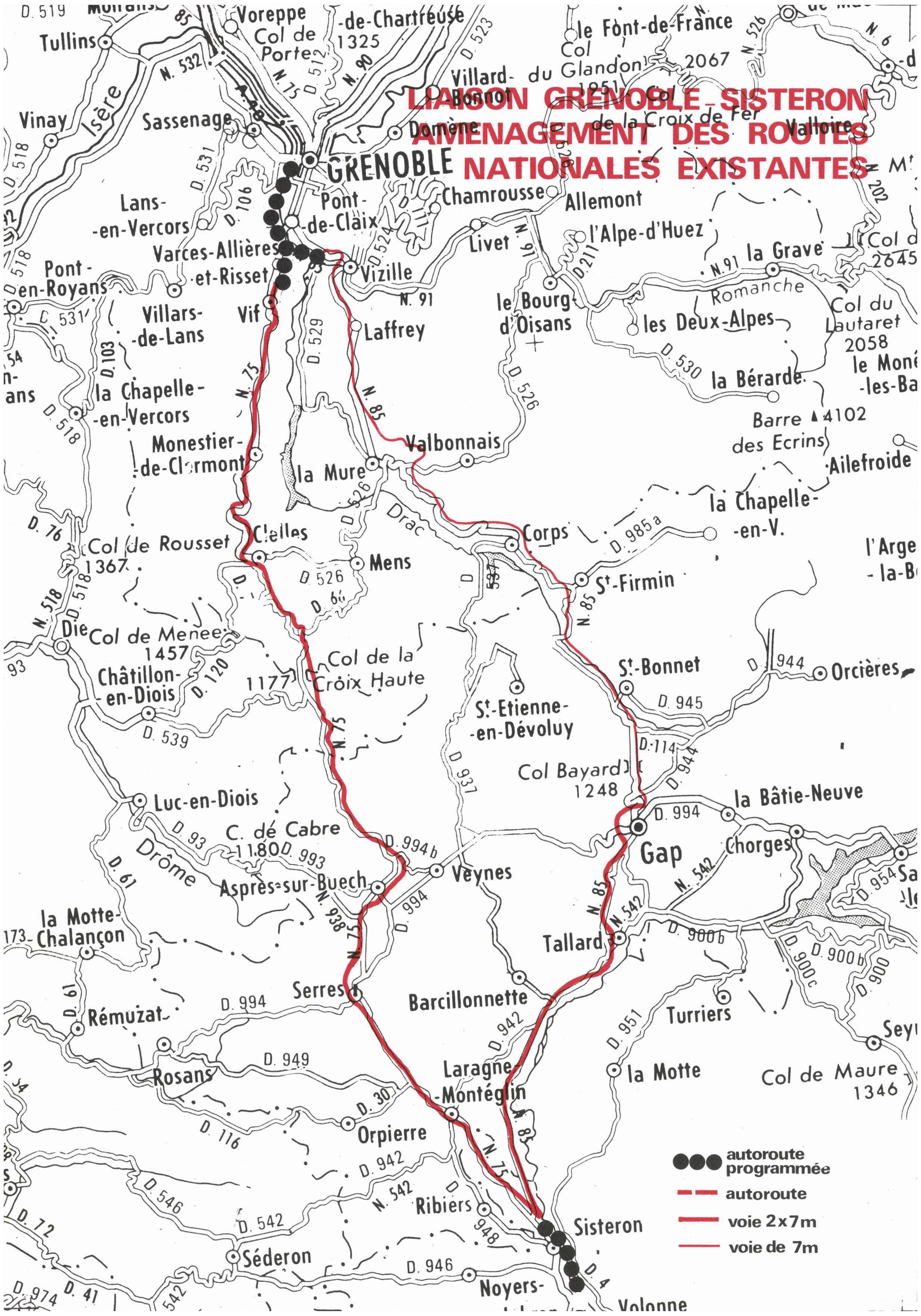Autoroute française A51 (Historique)/Détail