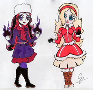 Apple White & Raven Queen (AzulPineapple)