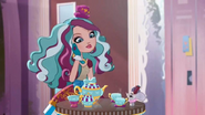 Maddie having a tea party with Earl Grey