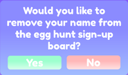 Easter 2021 Signing out of the Minigame
