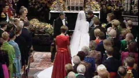 Wedding Prince Joachim & Miss Alexandra Manley, November 18, 1995 at Frederiksborg Church