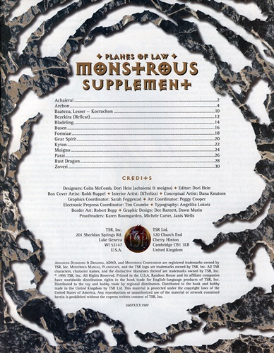 Planes of Law Monstrous Supplement