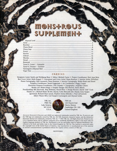 Planes of Chaos Monstrous Supplement