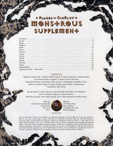 Planes of Conflict Monstrous Supplement