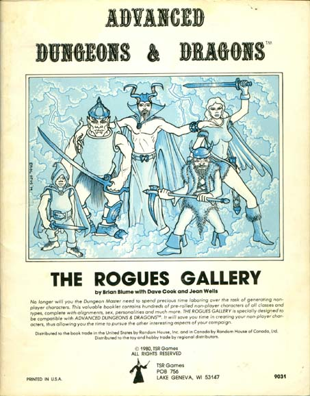 The Rogues Gallery (AD&D)