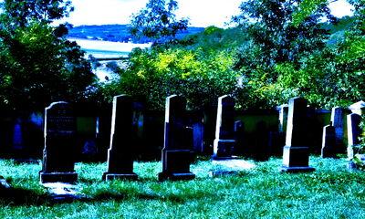 Friedhof in Oberstockstall, von der anderen Seite des Vorhangs gesehen