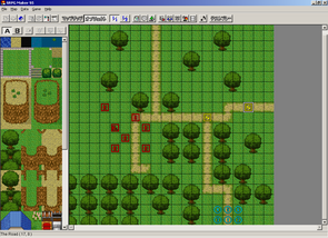 Sim RPG Maker 95 Graphical User Interface