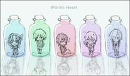 Witch's Heart Bottles