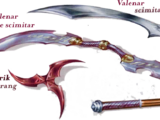 Double-bladed scimitar