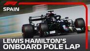 Lewis Hamilton's Pole Lap 2020 Spanish Grand Prix Pirelli