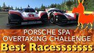 Real Racing 3 RR3 Porsche Spa Overtaking Challenge Best Races