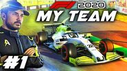F1 2020 MY TEAM CAREER Part 1 Our Journey Begins in F1 for our 'Create A Team' Career Mode!
