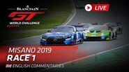 RACE 1 - MISANO - BLANCPAIN GT WORLD CHALLENGE 2019 - ENGLISH - LIVE