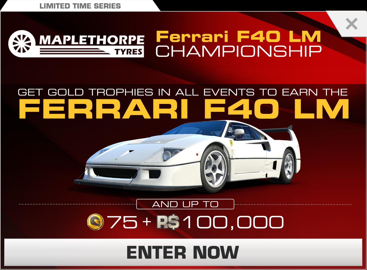 Ferrari F40 Lm Championship Real Racing 3 Wiki Fandom
