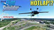 HIGH SPEED Lap of the Nürburgring in a Stunt Plane!? Microsoft Flight Simulator 2020 4K